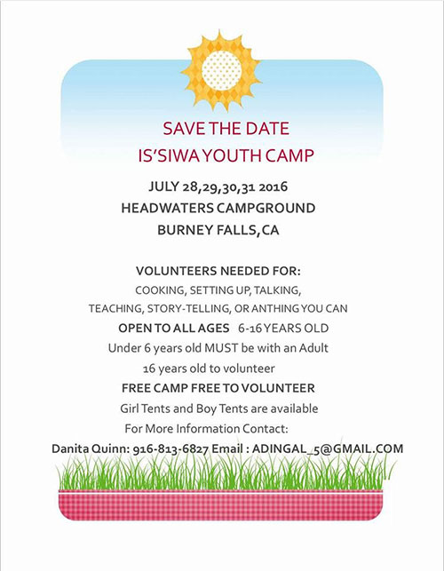 Is'Siwa Youth Camp July 28 - 31 2016