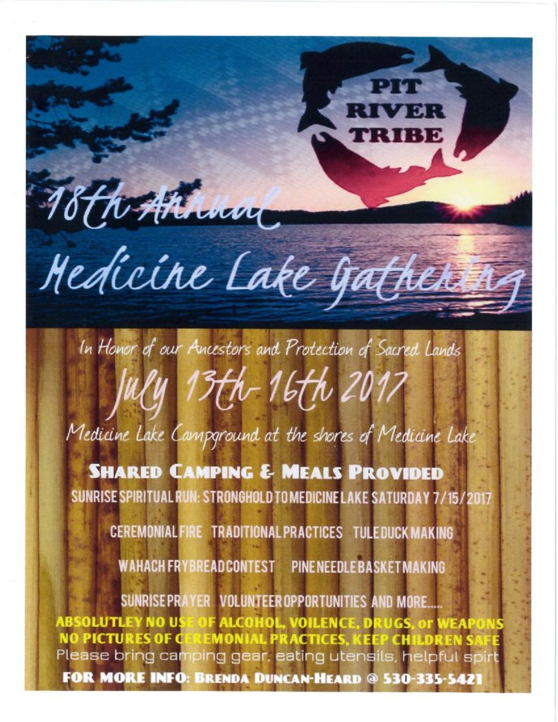 Medicine Lake Gathering July 13-16, 2017