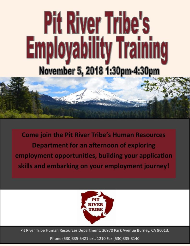 TRIBAL MEMBERS ARE YOU LOOKING FOR A JOB-WE HAVE THE WORKSHOP FOR YOU