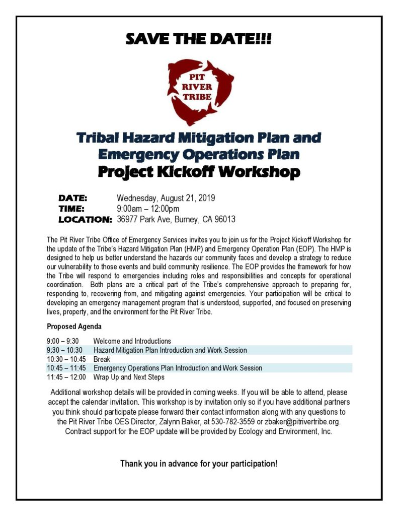 Tribal Hazard Mitigation Plan